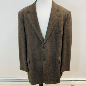 Stafford Sport  Jacket 50 R Wool Brown Black M1